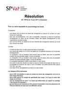 AD SPVal de juin 2017: suite des résolutions