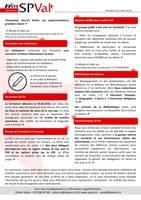 Bulletin d'information SPVal: janvier 2016