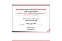 Rapport Spörri  et suite de la démission de Jean-Marie Cleusix