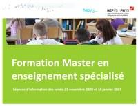 Master Enseignement Spécialisé 2021-2024