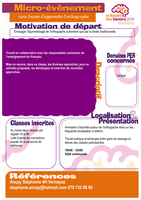 1001 façons d'apprendre l'orthographe