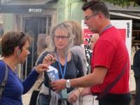 7. A Braga, Bernadette et Anne-Christine très intéressées ... par les marrons de Philippe !!!