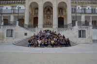 8. Photo de groupe à l'Université de Coimbra