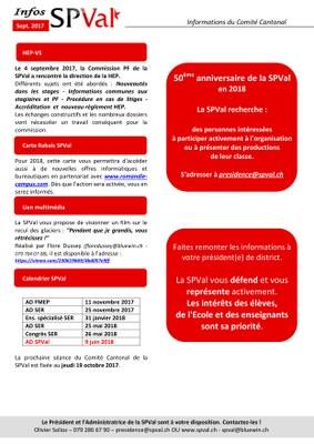 Bulletin infos SPVal de septembre 2017 verso