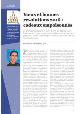 Vœux et bonnes résolutions 2016 + Cadeaux empoisonnés